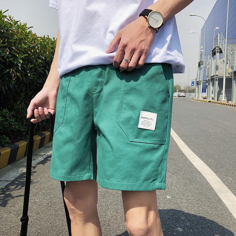 夏季短裤男士休闲裤五分裤宽松沙滩裤潮流韩版裤子马裤百搭原宿风(非品牌)