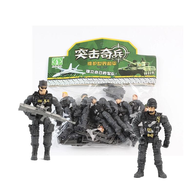 Современный военный война борьба солдат модель войска игрушка солдат специальный тип солдат костюм с оружие пластик украшение