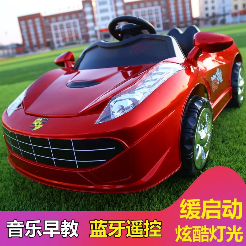 儿童电动车四轮双驱动遥控汽车男女宝宝充电童车小孩玩具车可坐人