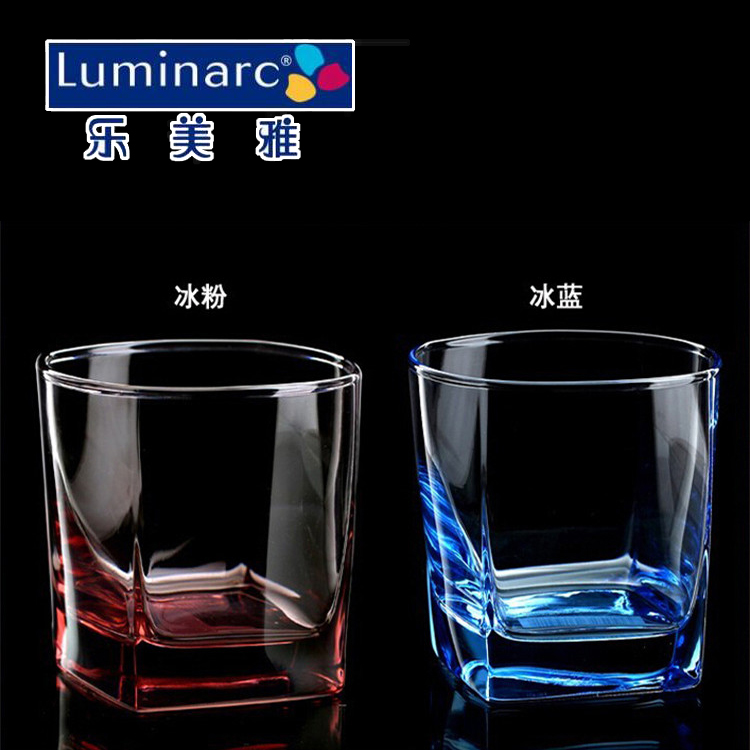 Archer Meiya glass cup color cup heat resistant glass tea cup water glass whisky cup square beer cup