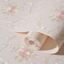 立体浮雕浅蓝色美容院客厅电视背景墙壁纸3d欧式家用环保卧室墙纸
