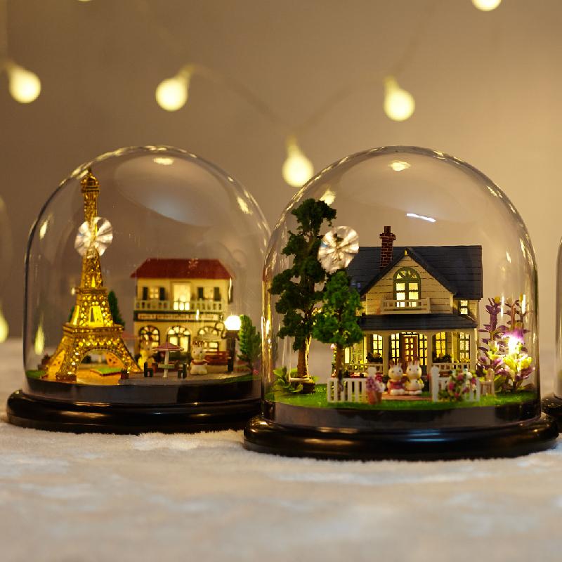 diy手工创意成人小屋制作小房子艺术别墅拼装模型女玩具生日礼物