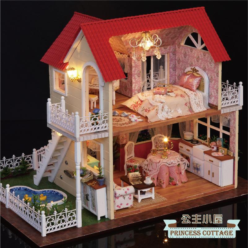 智趣屋diy小屋公主日记大型别墅房子手工拼装模型创意礼物送女生