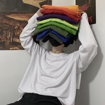 INSstudios.19韩国ins复古基础款纯色秋季打底衫内搭男女长袖T恤