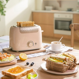 小熊烤面包机家用全自动小型吐司早餐机多功能迷你多士炉懒人神器图片