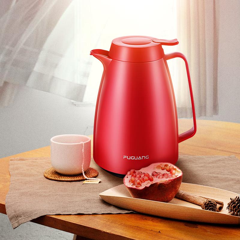 富光家居保溫壺家用玻璃內膽暖水壺熱水瓶暖壺大容量歐式家居壺