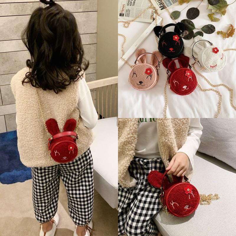 宝宝可爱毛绒斜挎包女童时尚小兔子单肩零钱小包包潮女孩公主儿童