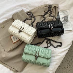 小包包2021新款潮时尚百搭斜挎网红洋气质感学生链条仙女包