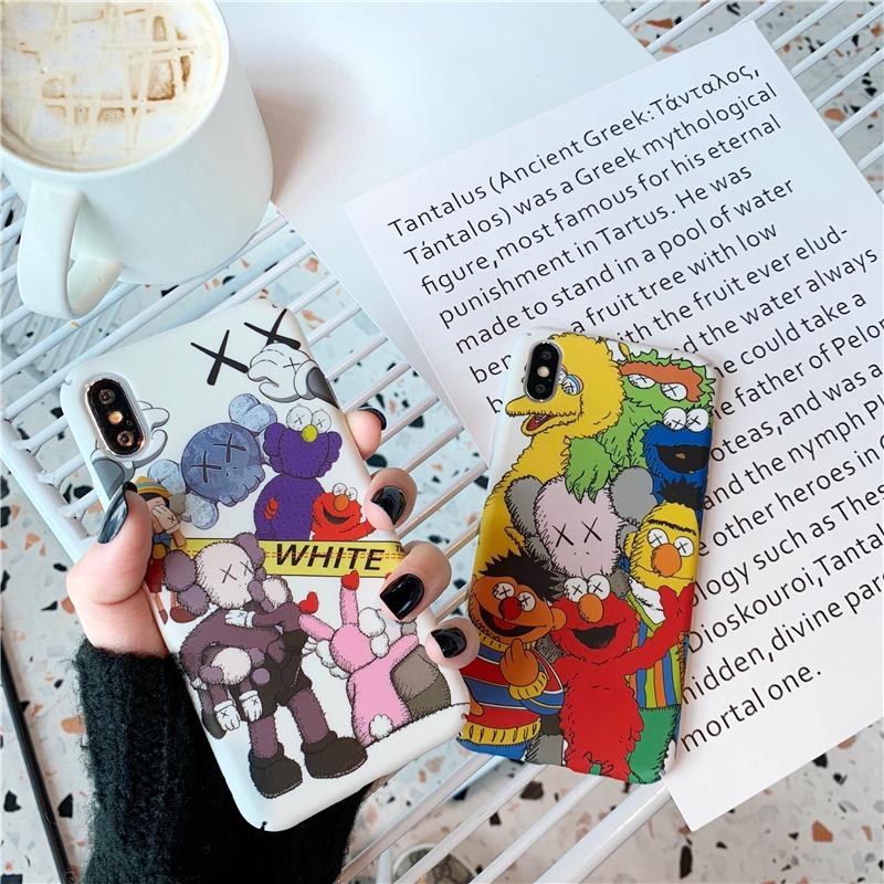 可爱卡通情侣苹果x手机壳iphonexsmax磨砂8plus创意防摔7p全包保护