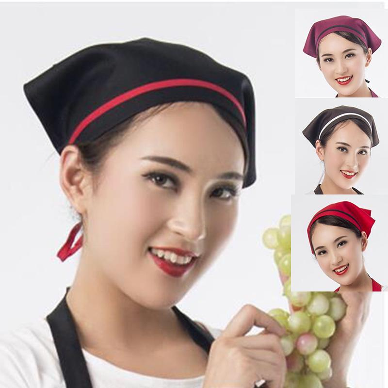 Fashion restaurant triangle Baotou headscarf waiter kitchen anti lampblack hat coffee shop triangle scarf female catering Chef
