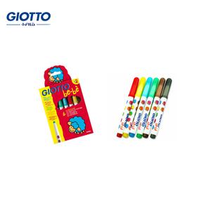 意大利原装GIOTTO BEBE 可水洗水彩笔6色 画具画材书法用品水彩笔
