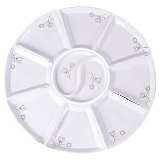 網紅拼盤餐具組合套裝家用創意陶瓷菜盤子圓桌擺盤團圓餐盤扇形盤