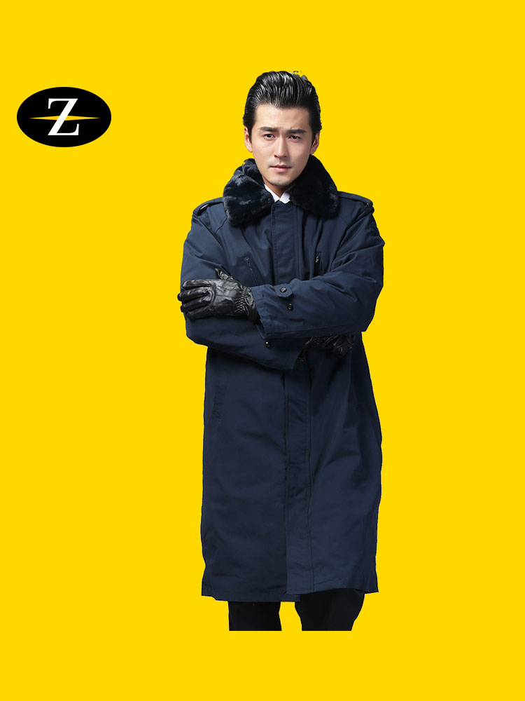 Outdoor military coat cotton coat long thickened labor insurance coat men's warm area military fans often coat
