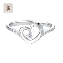 Dr. Darryring proposed marriage diamond ring womens ring 18K Platinum diamond ring counter Genuine
