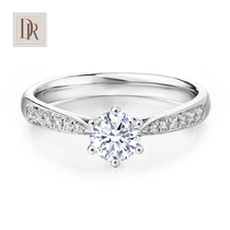 DR Darry rings One carat diamond ring custom counter Genuine Jewelry six claw proposal wedding diamond ring
