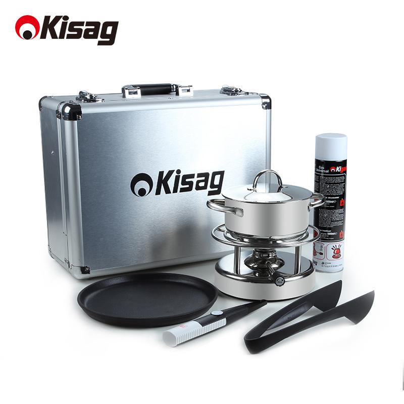 Kisag плитка клан печь путешествие подарок установите домой на открытом воздухе кемпинг печь инструмент автомобиль оборудование блюдо барбекю