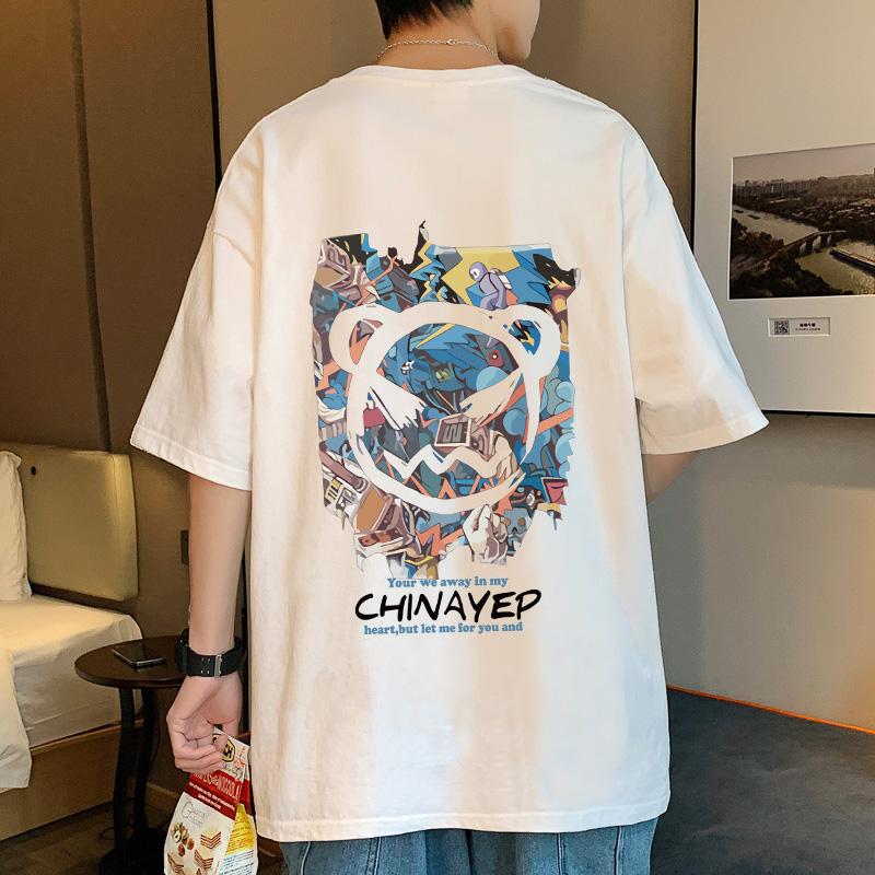 短袖T恤男夏季潮流男装2021新款...