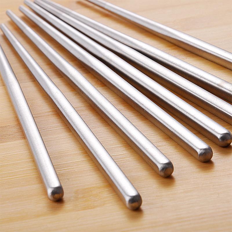 磨砂防滑 空心防燙方形筷子 韓國金屬鐵筷子防滑304不鏽鋼筷子