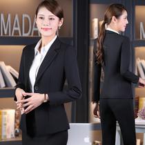 大码西装外套女胖MM韩版秋宽松时尚职业套装加肥加大200斤工作服