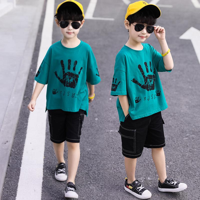 童装男童短袖套装夏装2020新款儿童中大童两件套帅洋气休闲韩版潮