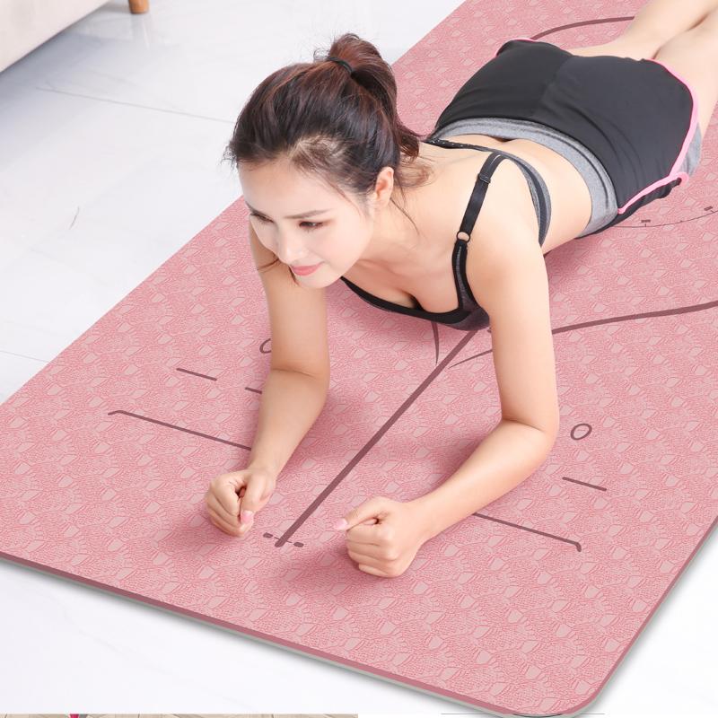 tpe瑜伽垫女防滑健身地垫子加厚加宽加长瑜珈男士初学者家用 套装