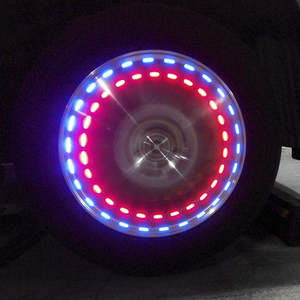 汽車輪胎燈風火輪 汽車輪轂燈太陽能氣門嘴燈摩托車輪胎燈 爆閃燈