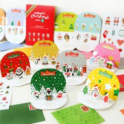 韩国创意圣诞贺卡可爱卡通手工3d立体卡片带信封圣诞节祝福贺卡