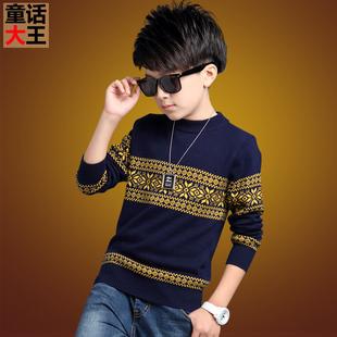 Мальчиков свитер 10 в больших детей 12 ребенок поддержка шерстяной одежда 15 лет сгущаться ребенок свитер хеджирование зимой