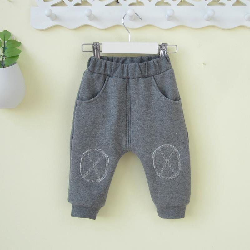 男寶寶加絨嬰兒春秋哈倫褲