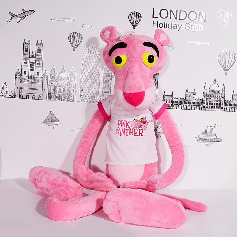 粉红豹公仔毛绒玩具可爱达浪娃娃韩国女孩少女睡觉抱枕粉红顽皮豹