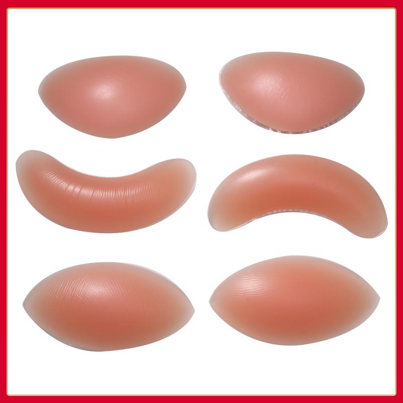 Quần áo bơi thoáng khí đệm ngực chèn đồ lót bikini dày áo ngực nhỏ ngực tập hợp trên pad phía sau silicone - Minh họa / Falsies