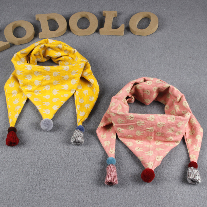 Every day special new children's fall and winter scarves boys and girls baby bib triangular scarves season warm infant