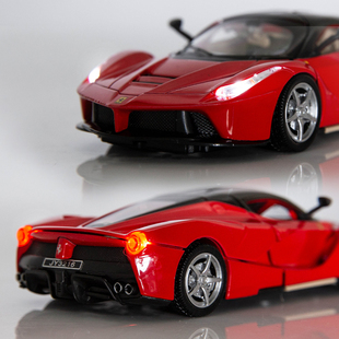 合金模型法拉利拉法fxxk車模限量版跑車仿真金屬兒童玩具汽車擺件