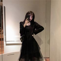 2020秋装新款胖妹妹显瘦大码女装洋气减龄西装外套连衣裙两件套装