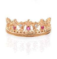 查看周生生银泰专柜18k红色黄金V&A系列桂冠红宝石戒指91267R价格