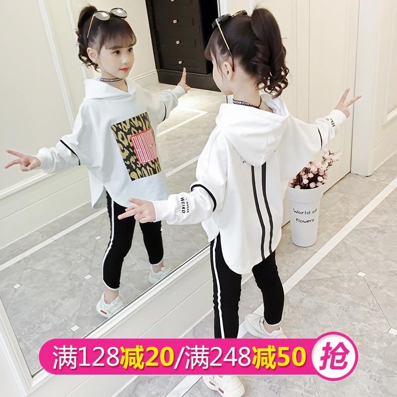 女童春装套装2019新款韩版洋气中大童小清新儿童休闲运动潮两件套