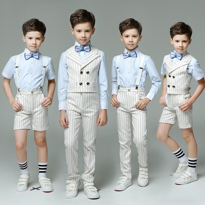 男童礼服套装英伦风儿童钢琴走秀小主持人服装演出服小孩花童男秋