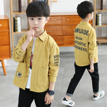 Boys autumn cotton plaid long-sleeved shirt 2019 new spring and autumn children warm and plush sweater shirt tide