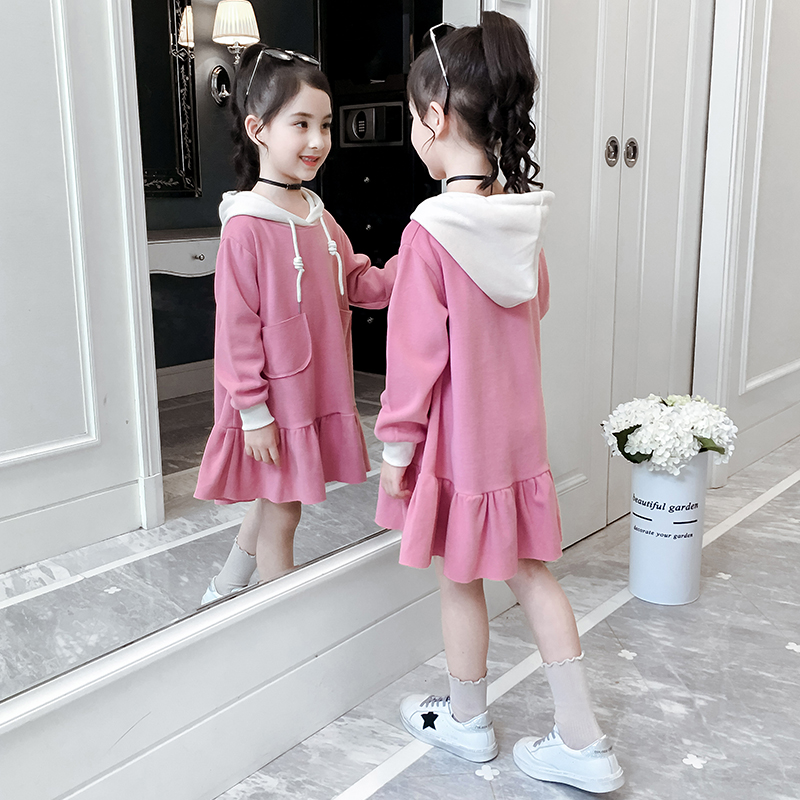 Girls' spring dress, autumn dress, 2020 new style girl's children's clothing, bodyguard, princess skirt, fashionable children's skirt