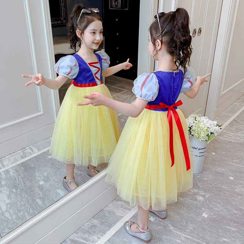 Girls' dress, air yarn skirt, summer dress, 2020 new children's skirt, children's wear, summer girl's snow white skirt