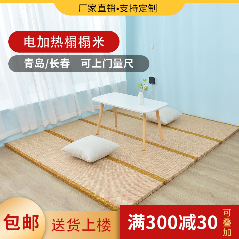 Tatami mat made to order electric heating coconut palm Japanese latex electric Kang mat floor mat mattress bedroom household