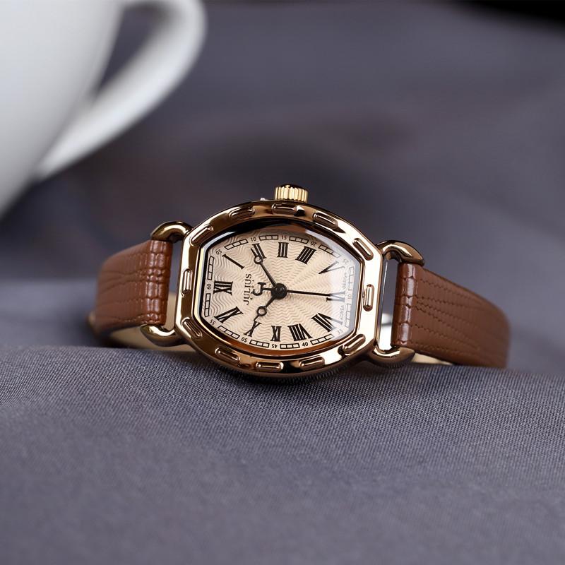 正品聚利时手表女时尚潮流方形石英表防水小巧精致学生女表时装表