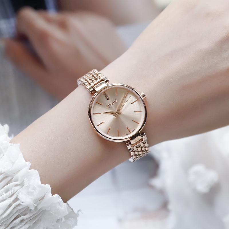 Authentic New Poly time steel band Watch women's Korean retro women's watch bracelet watch fashion watch electronic quartz watch