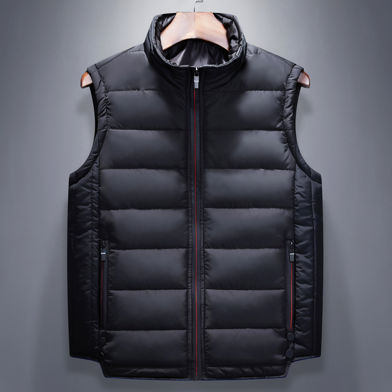 Mens coat thickened down cotton waistcoat autumn and winter waistcoat large vest sleeveless cotton coat Korean version of the fashion shoulder
