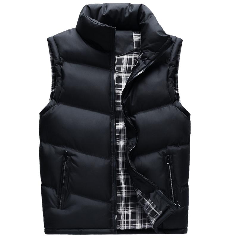 Mens coat thickened down cotton vest mens autumn and winter Vest Large Size vest sleeveless cotton jacket Korean fashion jacket