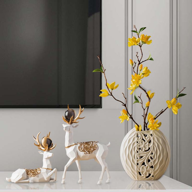 电视柜摆件家居装饰品创意小客厅酒柜摆设现代简约房间卧室工艺品