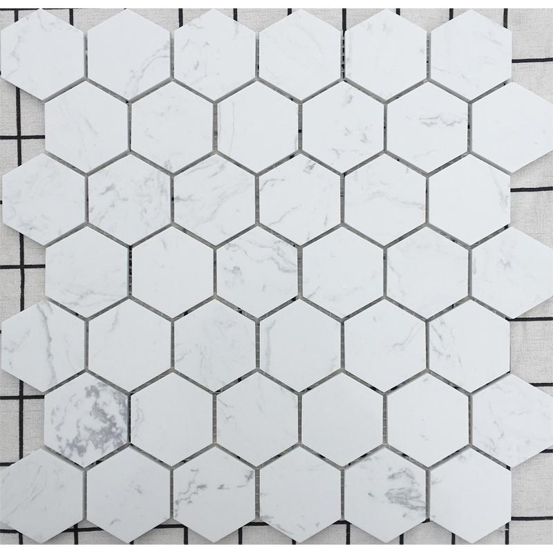 11-26新券白石英六边形马赛克卫生间厨房瓷砖