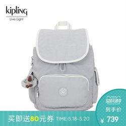 Kipling凯浦林2019春夏新款女休闲简约双肩包布包 CITY PACK S