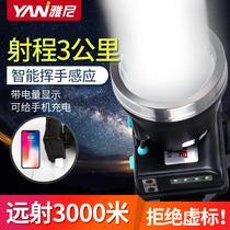 雅尼led头灯强光充电超亮远射头戴式手电筒户外锂电矿灯超长续航