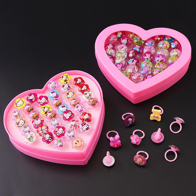 Дети кольцо подарок небольшой мультфильм ребенок девочки ребенок ювелирные изделия статья игрушка женщина принцесса алмаз милый горный хрусталь